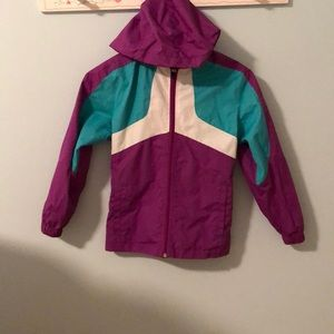 Other - Purple teal and white rain jacket